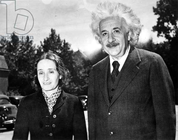 ALBERT EINSTEIN (1879-1955) American (German-born) theoretical physicist. With his step-daughter Margot in 1940.