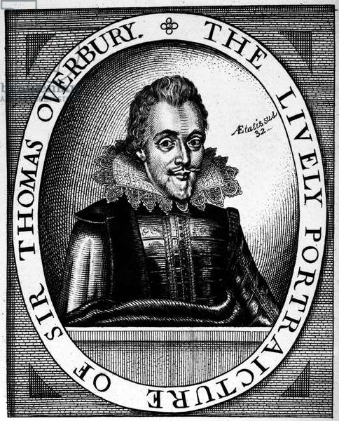 SIR THOMAS OVERBURY (1581-1613). English courtier and poet. Line engraving, 17th century.