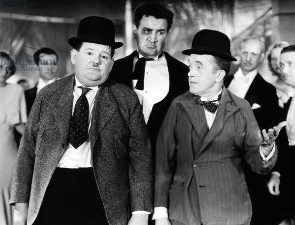 LAUREL AND HARDY Stan Laurel (left) and Oliver Hardy (right).