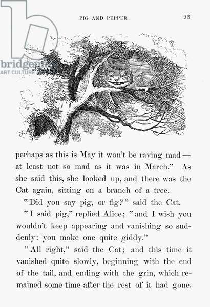 ALICE IN WONDERLAND, 1865 Illustration by Sir John Tenniel from the first edition of, 1865, of Lewis Carroll's 'Alice's Adventures in Wonderland.'