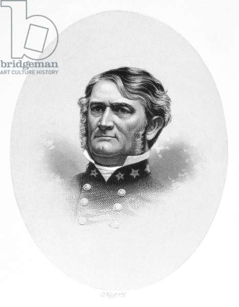 LEONIDAS POLK (1806-1864) American Episcopal bishop and Confederate general in the American Civil War. Line and stipple engraving, 19th century.
