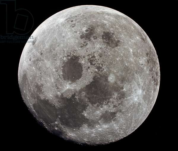 APOLLO 11: MOON, 1969 A view of the full moon from the Apollo 11 spacecraft. Photograph, 1969.