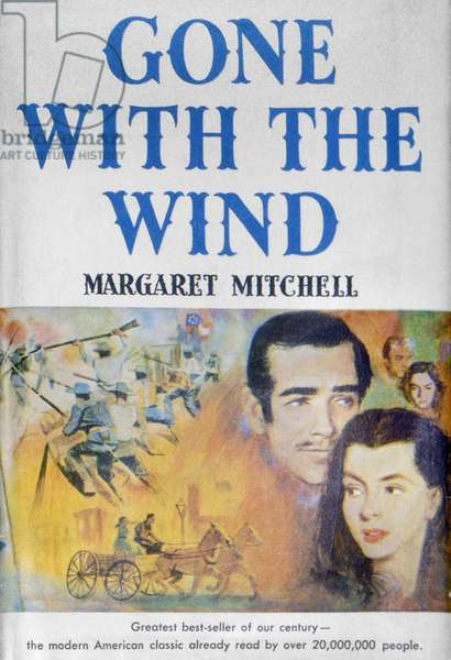 GONE WITH THE WIND, c.1940. A c.1940 edition of Margaret Mitchell's best selling novel about the American South.