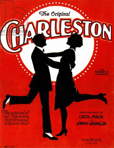 CHARLESTON SONGSHEET COVER American songsheet cover, 1923, for the 'Charleston,' which spawned the dance craze of the same name.