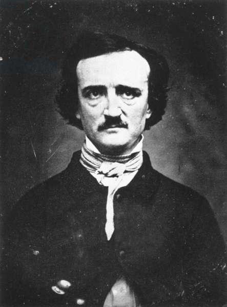 EDGAR ALLAN POE (1809-1849) American writer. Daguerreotype, 1848.