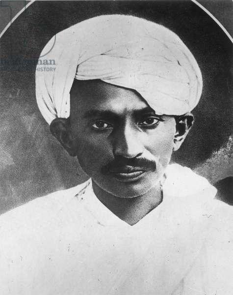 MOHANDAS GANDHI (1869-1948) Indian nationalist and spiritual leader.