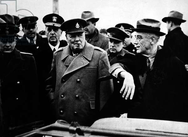 CHURCHILL & ROOSEVELT Prime Minister Winston Churchill and President Franklin D. Roosevelt at the Yalta Conference, Soviet Union, February 1945.