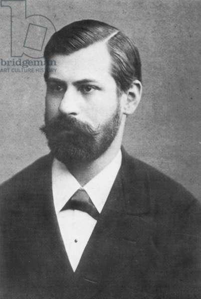 SIGMUND FREUD (1856-1939) Austrian neurologist; photographed in 1885.