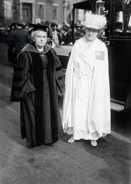 SHAW & CATT, c.1910 American reformers and women's rights advocates Anna Howard Shaw (1847-1919) (left) and Carrie Clinton Chapman Catt (1859-1947). Photograph, c.1910.