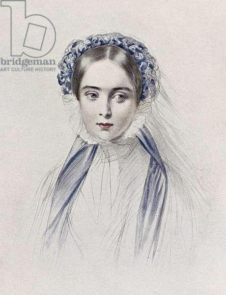 VICTORIA (1819-1901) Queen of Great Britain, 1837-1901. Lithograph by Émile Desmaisons (1812-1880).