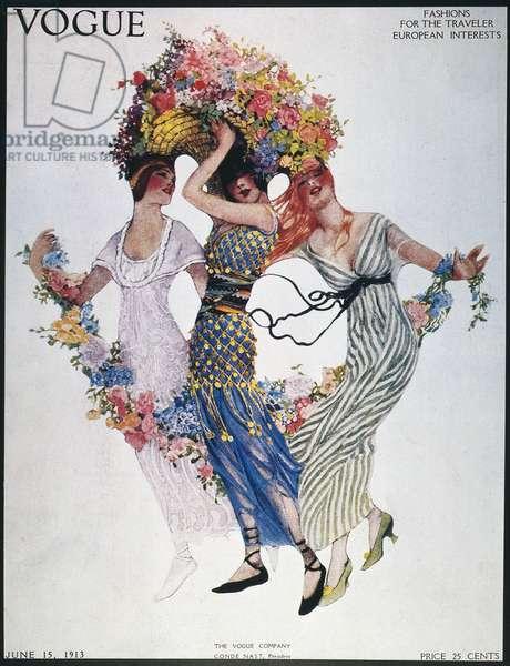 "MAGAZINE COVER, 1913 ""Vogue"" magazine cover, June 15, 1913."