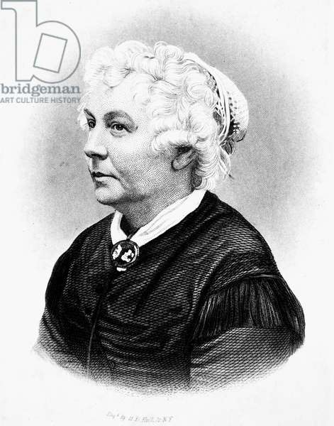 ELIZABETH CADY STANTON (1815-1902). American women's suffrage advocate. Line and stipple engraving, American, 19th century.