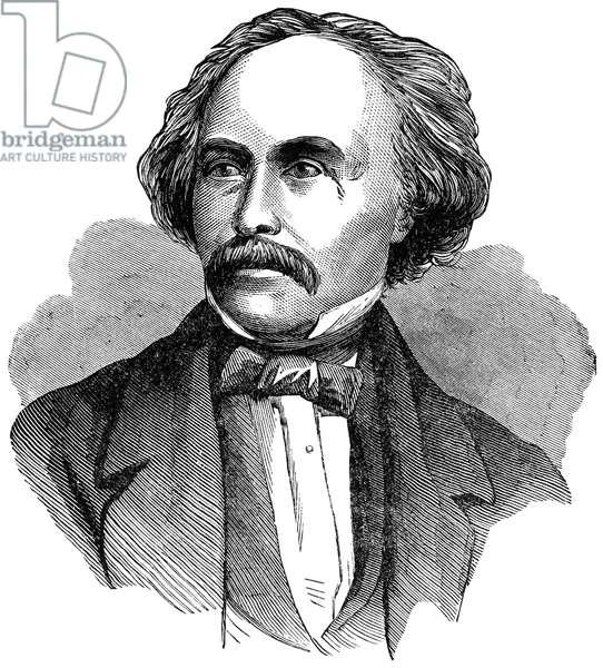 NATHANIEL HAWHTORNE (1804-1864). American writer. Line engraving, 19th century.