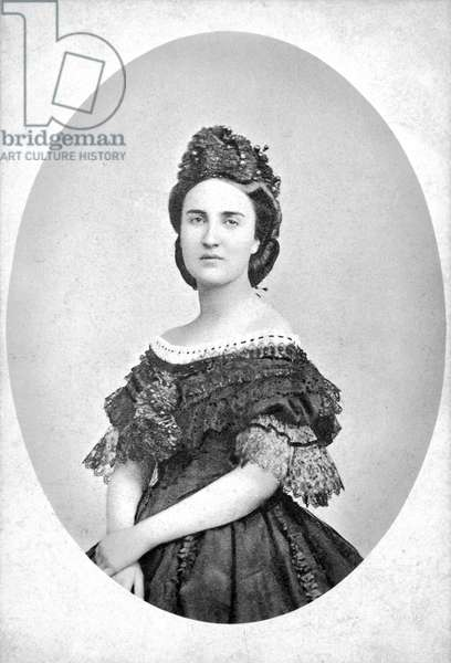 CARLOTA (1840-1927) Empress of Mexico, 1864-1867. Photographed c.1870.