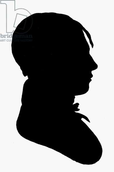 THOMAS JEFFERSON RANDOLPH (1792-1875). American statesman, grandson of Thomas Jefferson. Silhouette, early 19th century.