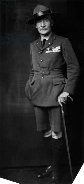 ROBERT BADEN-POWELL (1857-1941). 1st Baron of Gilwell. English soldier. Photographed in 1919.