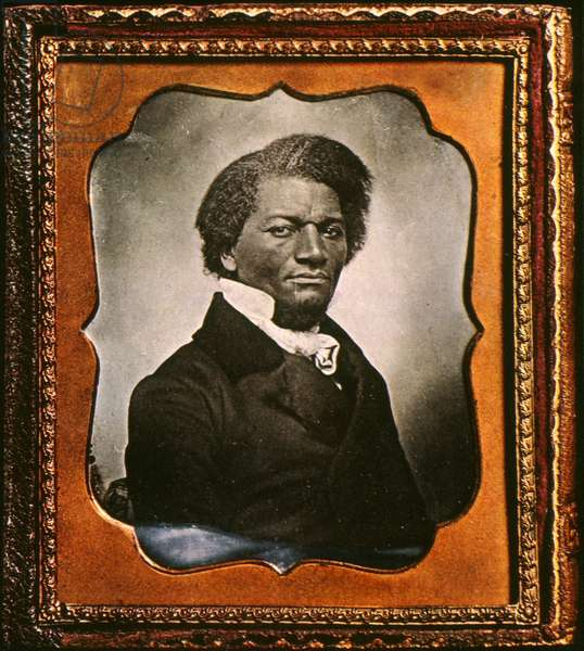 FREDERICK DOUGLASS ( c.1817-1895). American abolitionist. Daguerreotype, c.1855.