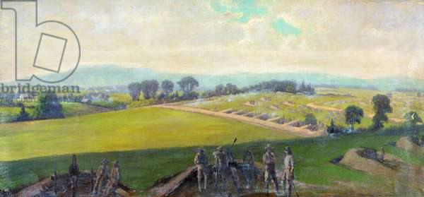 CIVIL WAR: GETTYSBURG, 1863 Last stand of the Confederate Army at the Battle of Gettysburg, Virginia. Painting by Edwin Forbes, between 1865 and 1895.