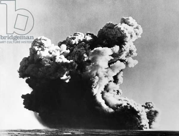 BRITISH NUCLEAR TEST, 1952 Great Britain tests its first atomic weapon at the Montebello Islands off the coast of north-western Australia, 3 October 1952.
