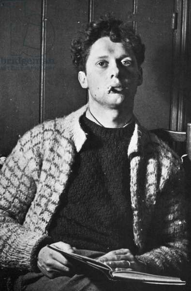 DYLAN THOMAS (1914-1953) Welsh poet. Photograph, c.1937.