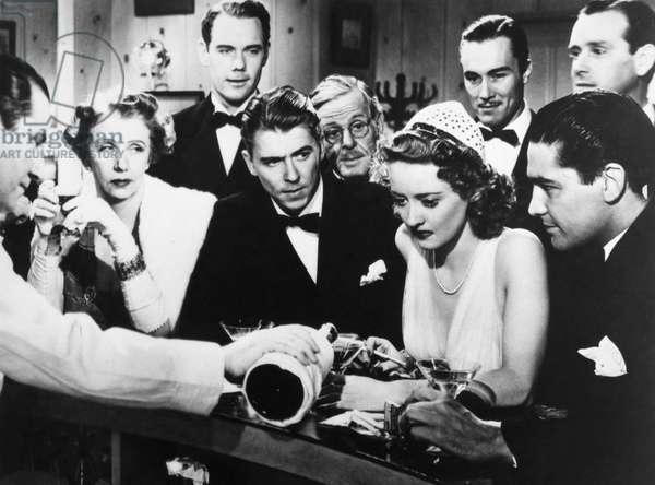BETTE DAVIS (1908-1989) Bette Davis and Ronald Reagan in the film 'Dark Victory,' 1939.