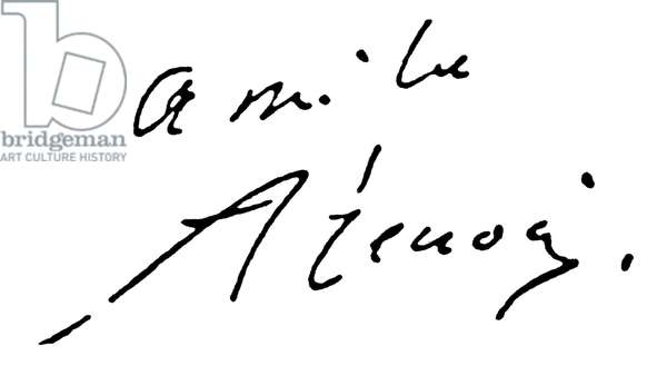 PIERRE AUGUSTE RENOIR (1841-1919). French painter. Autograph signature.