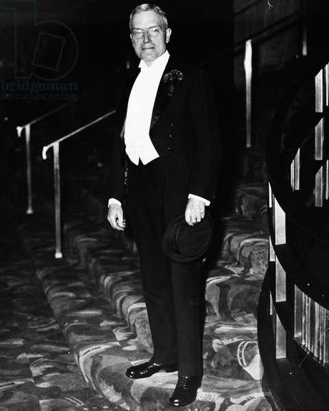 JOHN D. ROCKEFELLER, JR. (1874-1960) American industrialist. Rockefeller at the opening of Radio City Music Hall, New York City, 1932.