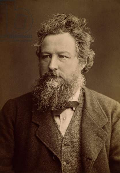 WILLIAM MORRIS (1834-1896) English artist and poet. Photographed c.1875.