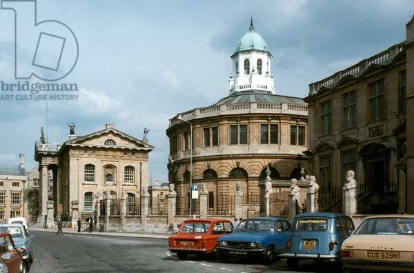 ENGLAND: OXFORD UNIVERSITY Sheldonian Theater from Broad Street.