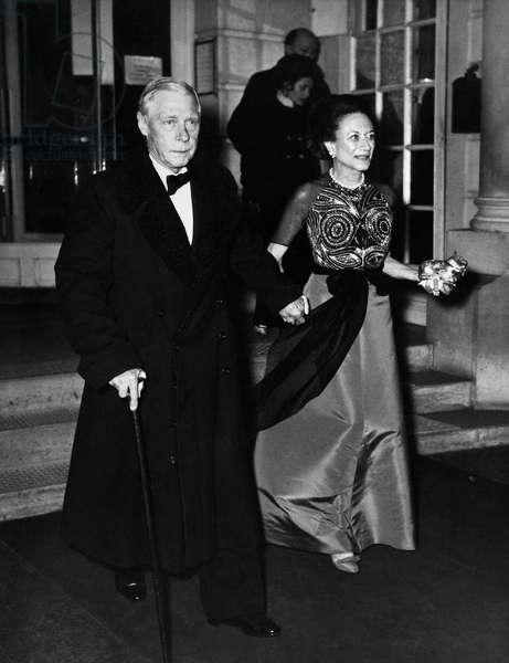 EDWARD VIII (1894-1972). King of Great Britain. The Duke and Duchess of Windsor, c.1965.