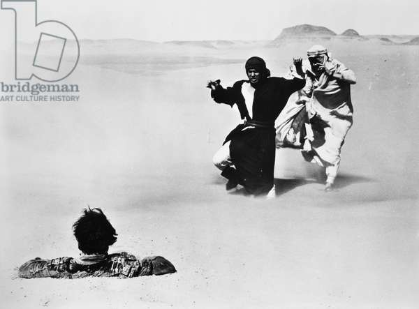LAWRENCE OF ARABIA, 1962 Film still with Peter O'Toole (in white) in the title role.
