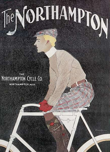 BICYCLE POSTER, 1899 American lithograph advertising poster by Edward Penfield for Northampton bicycles, 1899.