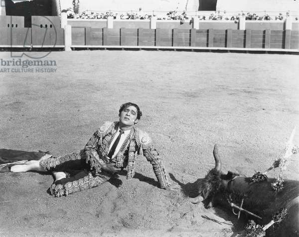 RUDOLPH VALENTINO (1895-1926). American cinemactor. Valentino in the film Blood and Sand, 1922.