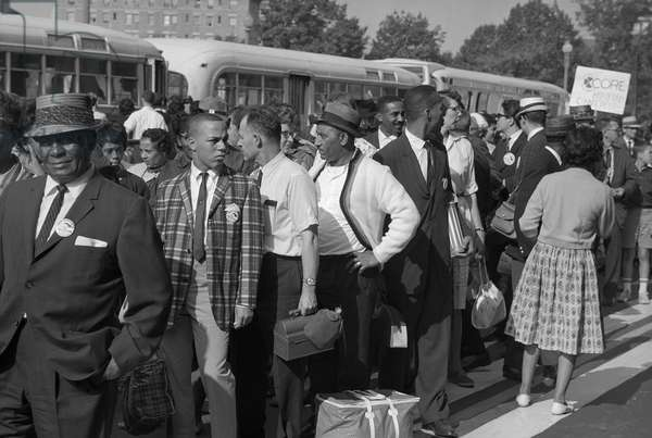 MARCH ON WASHINGTON, 1963 Marchers arriving at the March on Washington. Photograph by Marion S. Trikosko, 28 August 1963.