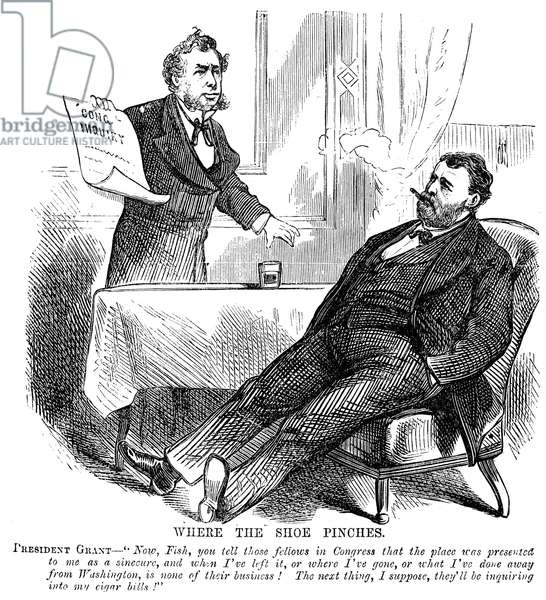 ULYSSES S. GRANT (1822-1885) 18th President of the United States. An anti-Grant cartoon of 1876.