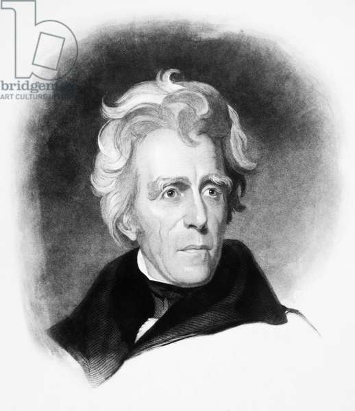 ANDREW JACKSON (1767-1845) Seventh President of the United States. Engraving after Thomas Sully.