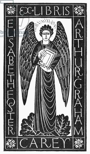 ANGEL BOOKPLATE, 1928 Design by Eric Gill.