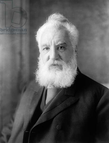ALEXANDER GRAHAM BELL (1847-1922) American (Scottish-born) teacher and inventor. Photographed in c.1905-1910.
