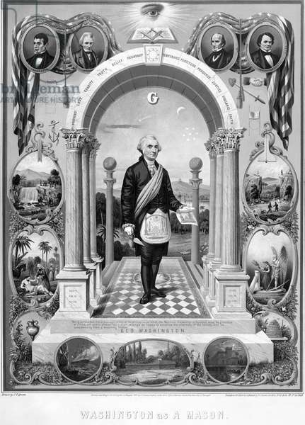 GEORGE WASHINGTON (1732-1799). First President of the United States. Lithograph, 1867.