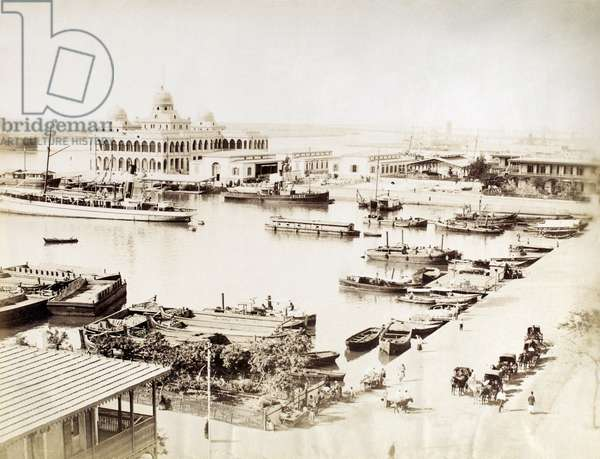 INDIA: PORT CITY A port city in India. Photograph, late 19th or early 20th century.