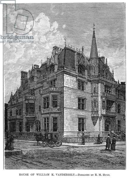 VANDERBILT MANSION 1882 The William K. Vanderbilt mansion on Fifth Avenue, New York City, designed by Richard Morris Hunt. Line engraving, 1882.