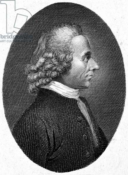 JOSEPH PRIESTLEY (1733-1804) English cleric and chemist. Line engraving, English, 1807.