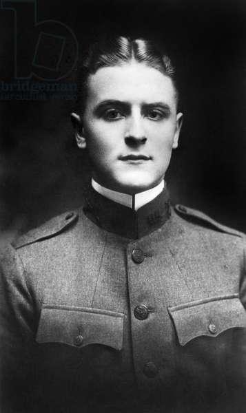 F. SCOTT FITZGERALD (1896-1940). Francis Scott Key Fitzgerald. American writer. Photograph, 1918.