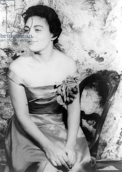 CHARLOTTE HOLLOMAN (1922-) American operatic soprano. Photographed by Carl Van Vechten, 1957.