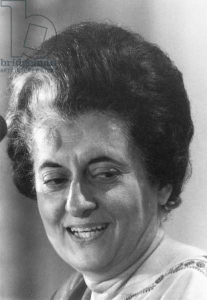 INDIRA NEHRU GANDHI (1917-1984). Indian political leader.