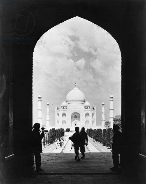INDIA: TAJ MAHAL, c.1960 The Taj Mahal at Agra. Photograph, c.1960.