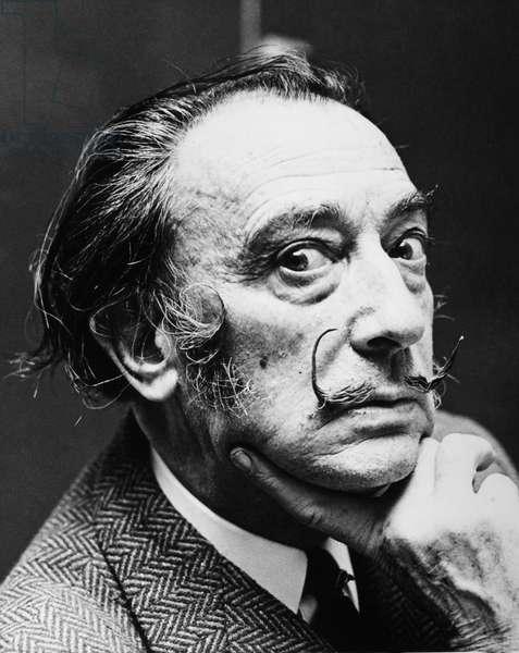 SALVADOR DALI (1904-1989) Spanish painter. Photograph, April 1968.