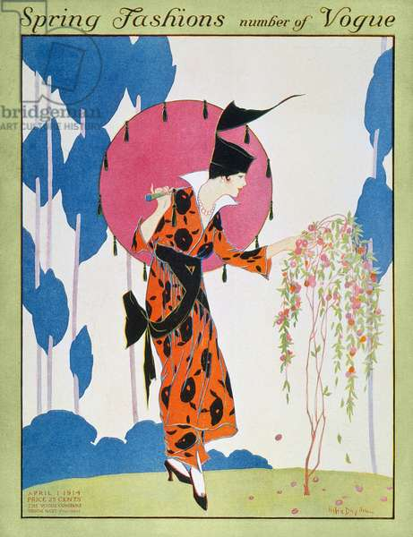 VOGUE MAGAZINE COVER, 1914 'Vogue' magazine cover, April 1914, featuring the Spring fashions.