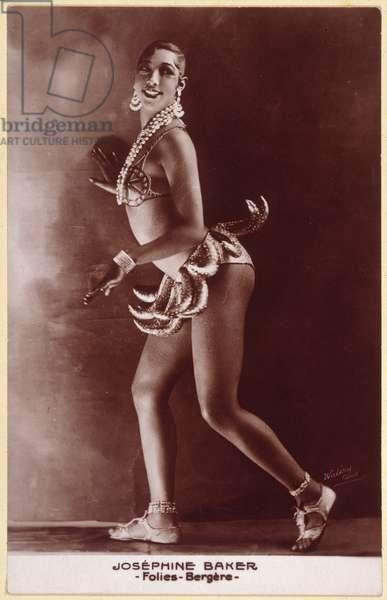 JOSEPHINE BAKER (1906-1975) American entertainer. Photographed c.1929 in Paris.
