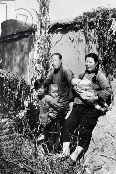 CHINESE FAMILY, 20th C A Chinese family, mid-20th century.